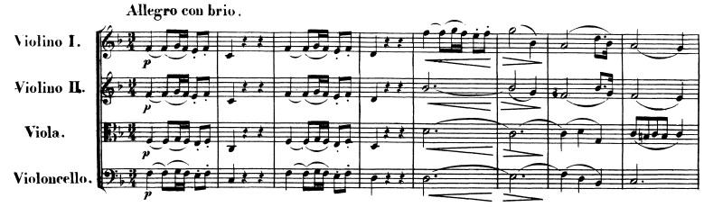 Beethoven op. 18 No. 1
